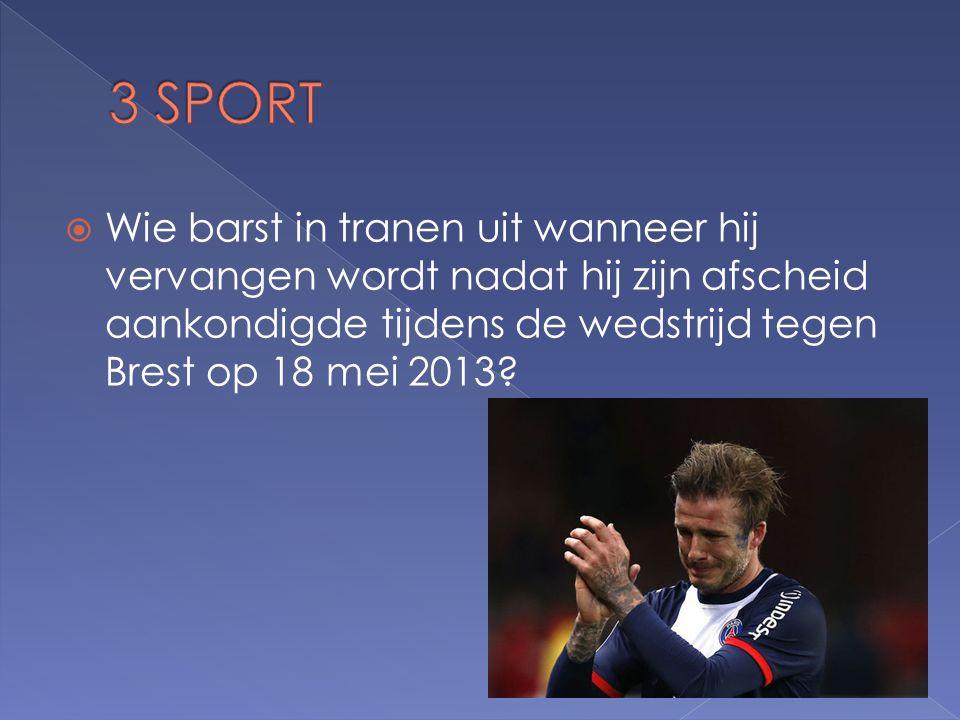  Wie barst in tranen uit wanneer hij vervangen wordt nadat hij zijn afscheid aankondigde tijdens de wedstrijd tegen Brest op 18 mei 2013