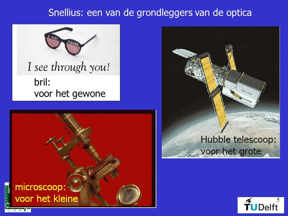 5 bril: voor het gewone Snellius: een van de grondleggers van de optica