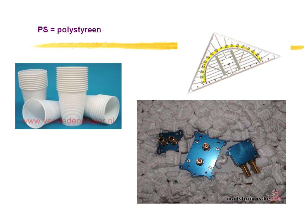 PS = polystyreen