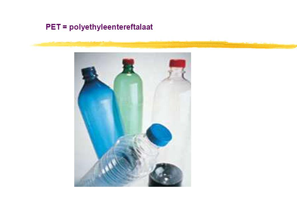PET = polyethyleentereftalaat