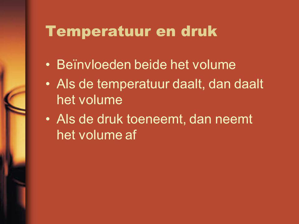 Standaard druk en temperatuur (stp) Standaarddruk van p 0 = 1,013 bar (= 1,013.10 15 Pa) In Binas tabel 7A staan twee waarden vermeld voor het molair volume, beide bepaald bij p=p 0 Vriespunt van water is gedefinieerd als standaard temperatuur: 0°C of 273 K