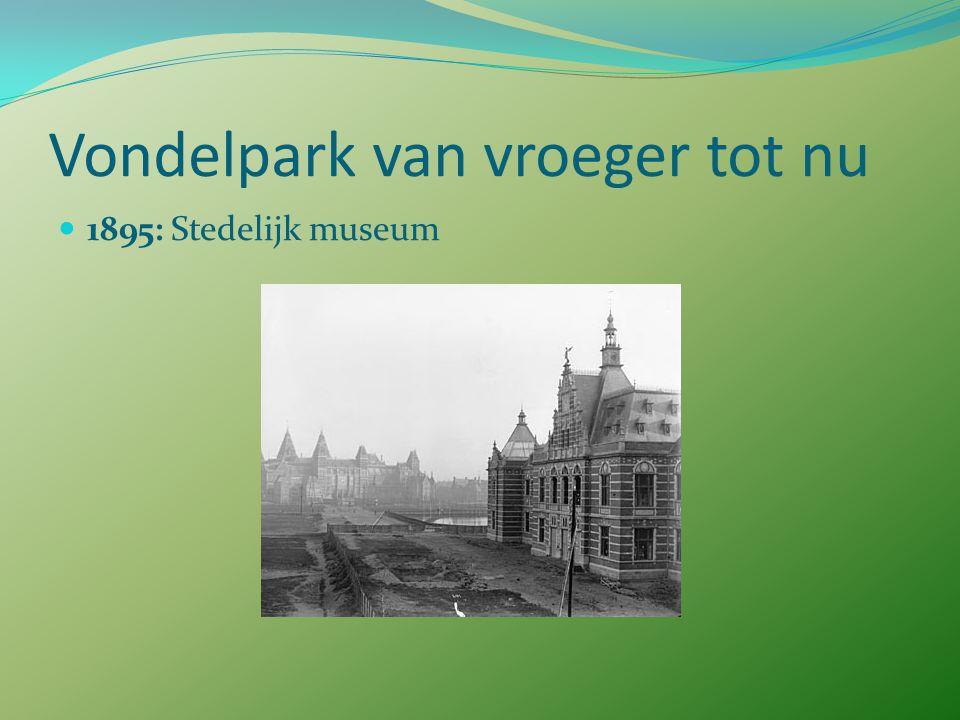 Vondelpark van vroeger tot nu 1893: fietsen toegestaan  discussie, alleen in ochtenduren