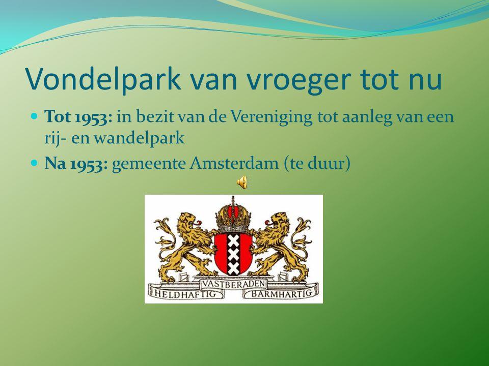 Vondelpark van vroeger tot nu 1947: Vondelbrug, ontwerp Piet Kramer  Van Baerlestraat en Eerste Constantijn Huijgensstraat