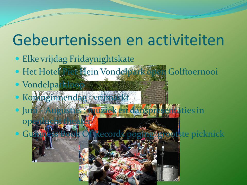 Vondelpark van vroeger tot nu 1987: Vereniging Vrienden van het Vondelpark opgericht 1999 – 2010: renovatie Vondelpark Nummer 29 in Canon van Amsterda