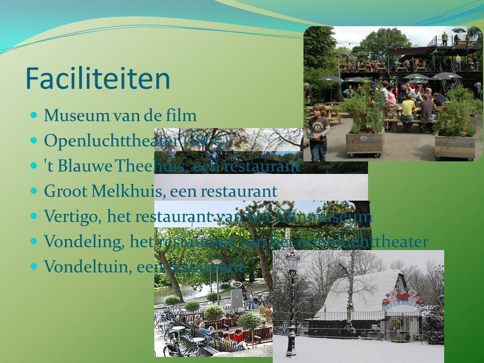 Gebeurtenissen en activiteiten Elke vrijdag Fridaynightskate Het Hotel Piet Hein Vondelpark open Golftoernooi Vondelparkloop Koninginnendag : vrijmark