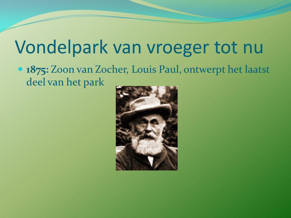 Vondelpark van vroeger tot nu 1867: Onthulling standbeeld Joost van den Vondel