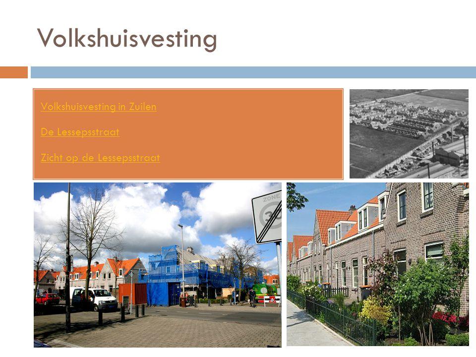 Volkshuisvesting Volkshuisvesting in Zuilen De Lessepsstraat Zicht op de Lessepsstraat