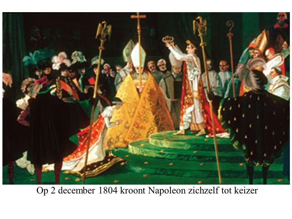 Op 2 december 1804 kroont Napoleon zichzelf tot keizer