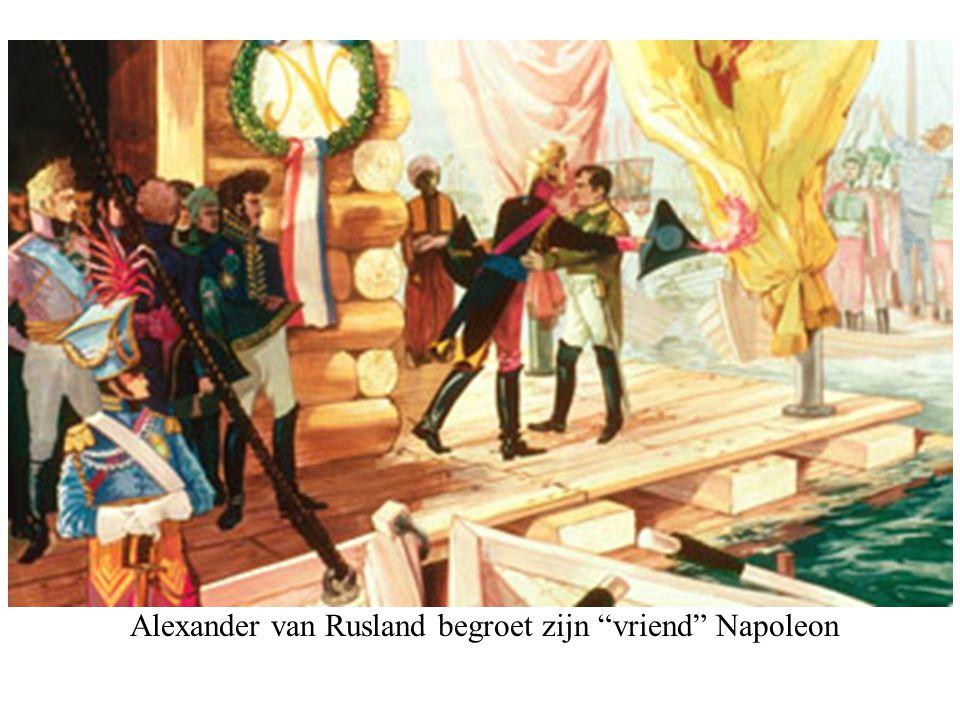 """Alexander van Rusland begroet zijn """"vriend"""" Napoleon"""