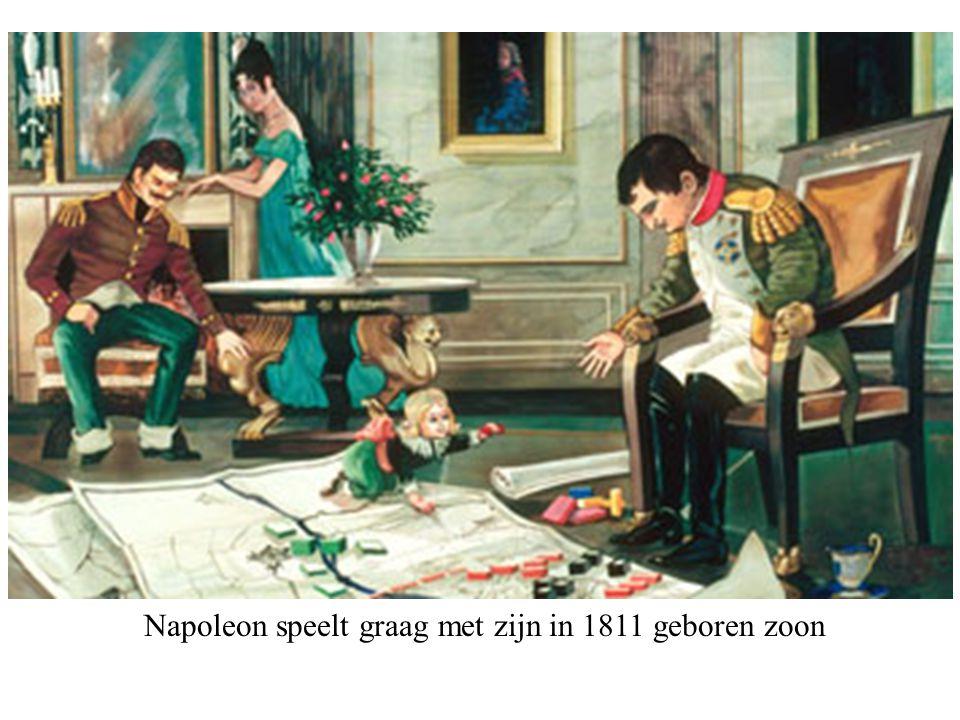 Napoleon speelt graag met zijn in 1811 geboren zoon