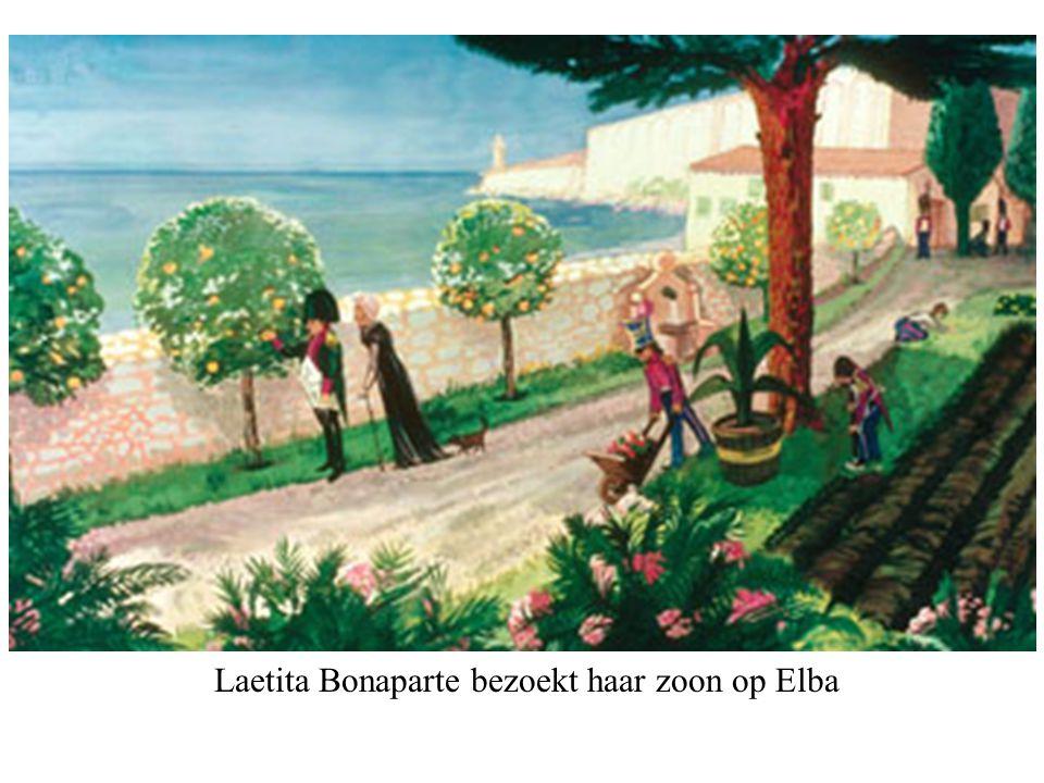 Laetita Bonaparte bezoekt haar zoon op Elba