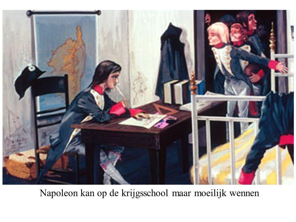 Napoleon kan op de krijgsschool maar moeilijk wennen