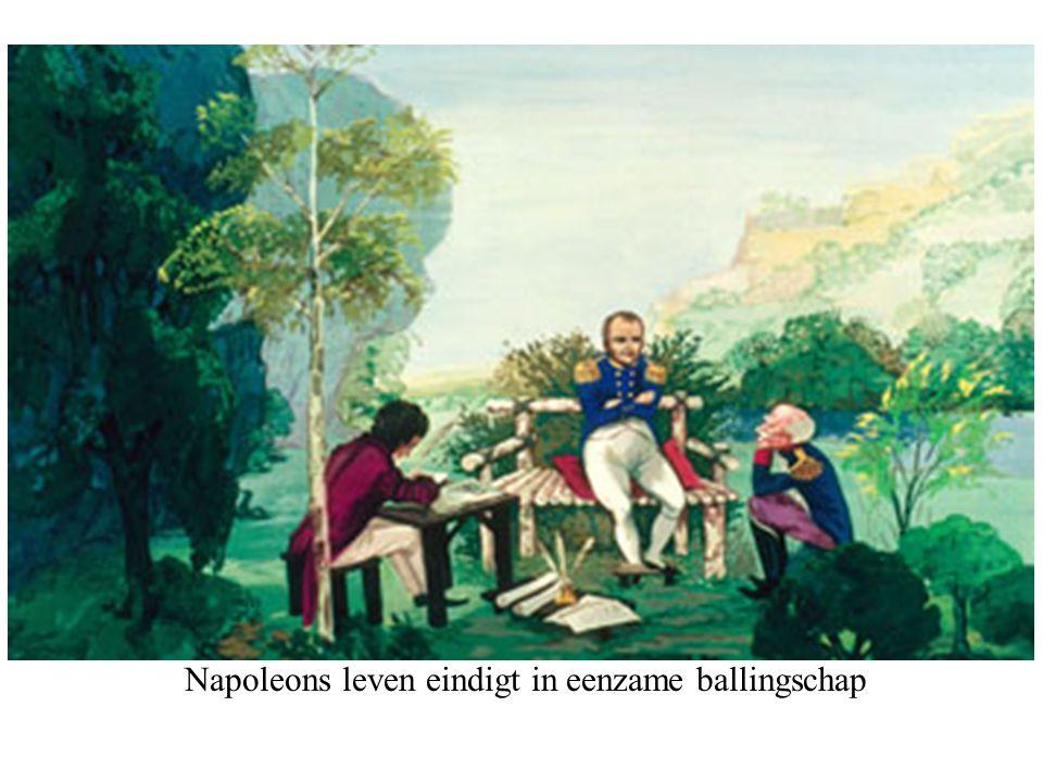 Napoleons leven eindigt in eenzame ballingschap