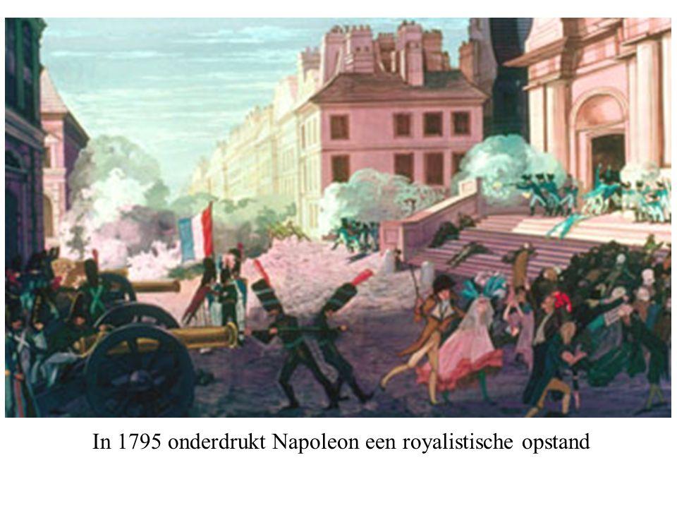 In 1795 onderdrukt Napoleon een royalistische opstand