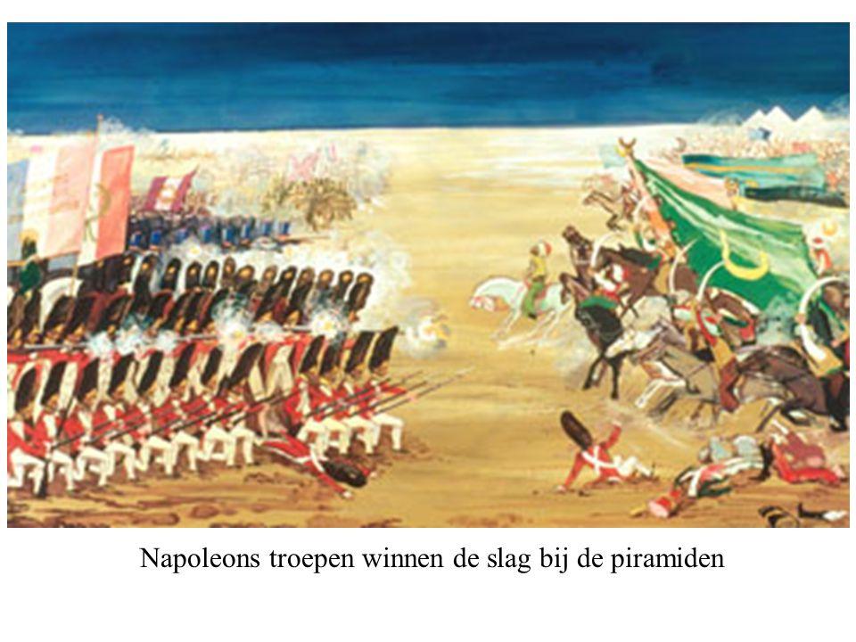 Napoleons troepen winnen de slag bij de piramiden