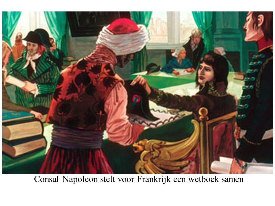 Consul Napoleon stelt voor Frankrijk een wetboek samen