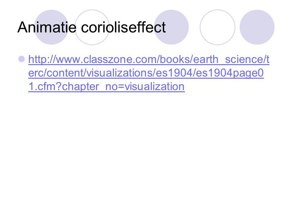 Animatie corioliseffect http://www.classzone.com/books/earth_science/t erc/content/visualizations/es1904/es1904page0 1.cfm?chapter_no=visualization ht