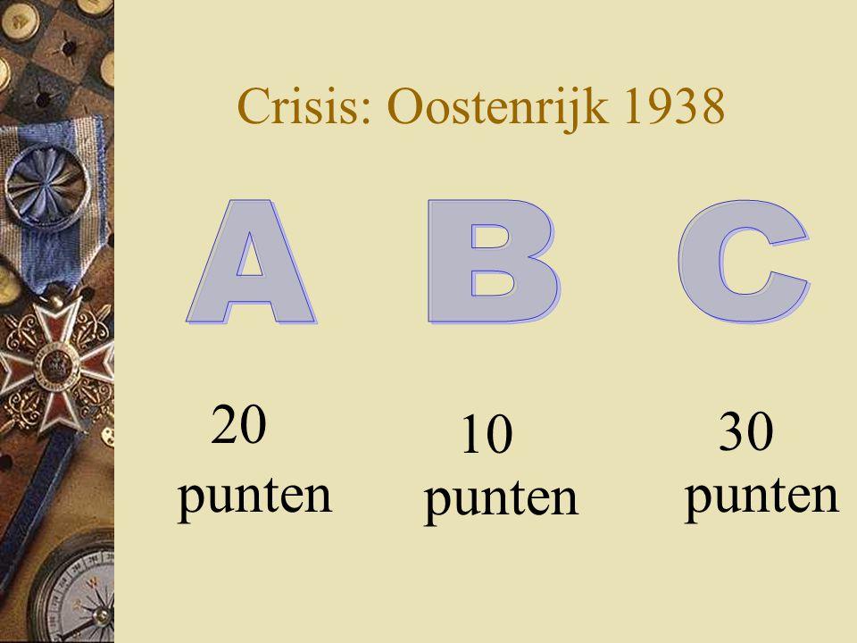 Crisis: Oostenrijk 1938 20 punten 30 punten 10 punten