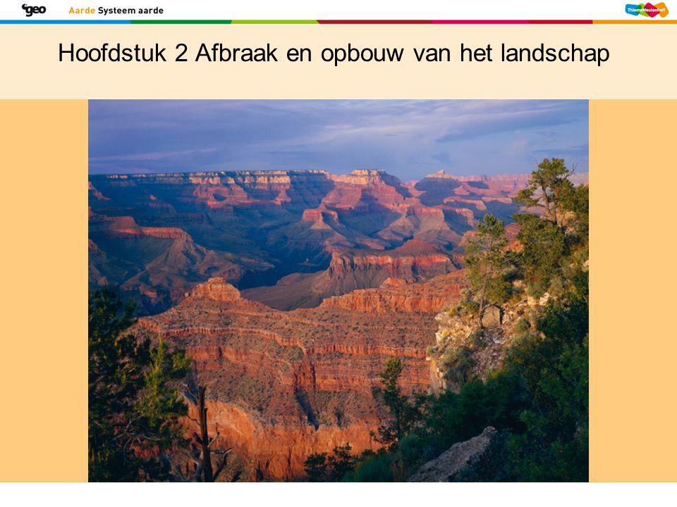 Hoofdstuk 2 Afbraak en opbouw van het landschap