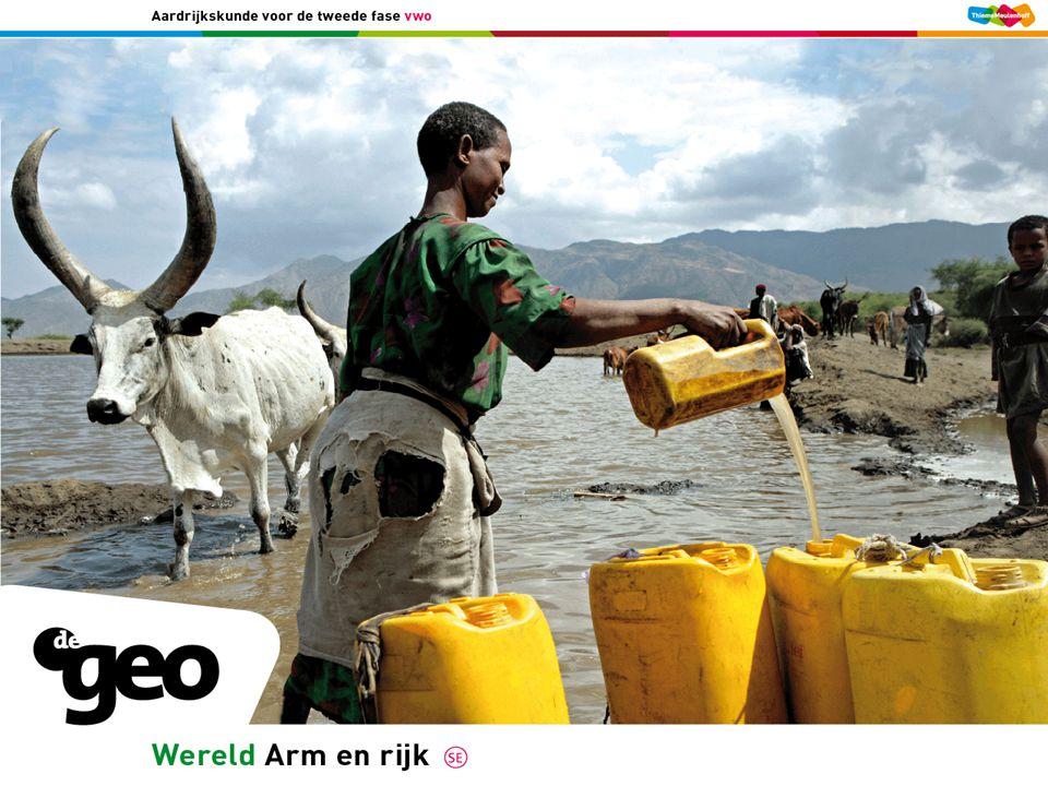 §2.1 Water in een droge wereld In steden neemt watergebrek toe Dus meer grondwater oppompen  Uitputting grondwatervoorraad  Verzakking bebouwing  Verdroging agrarische omgeving  Grote vraag door industrie Verstedelijking en industrie