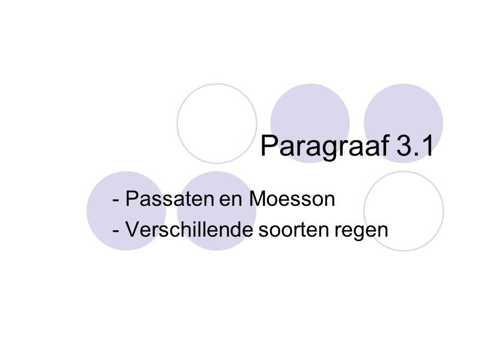 Paragraaf 3.1 - Passaten en Moesson - Verschillende soorten regen
