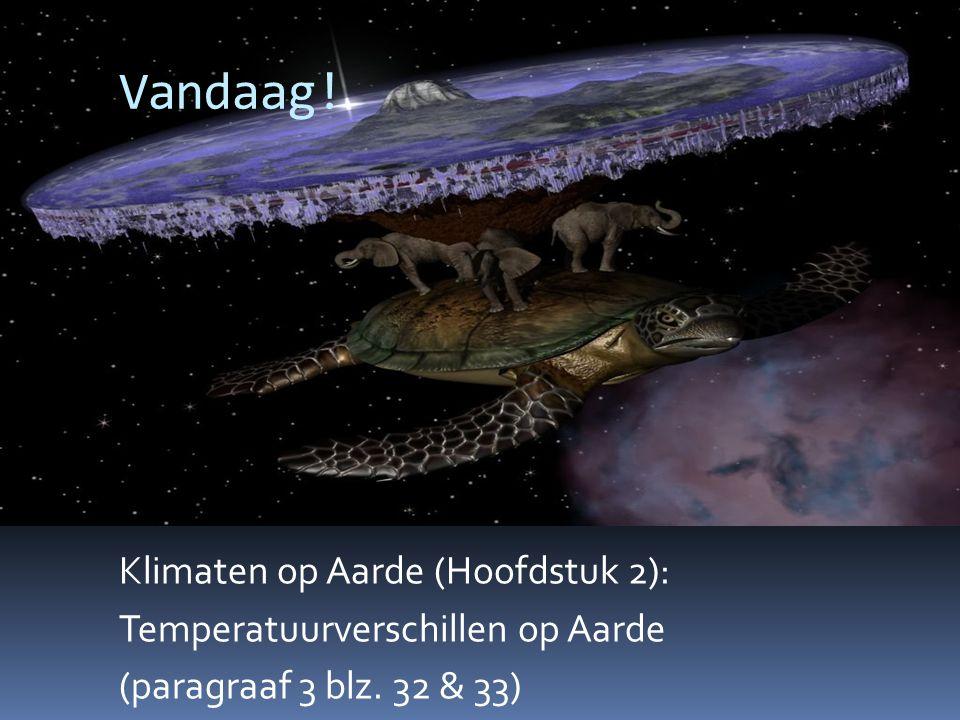 Vandaag.Klimaten op Aarde (Hoofdstuk 2): Temperatuurverschillen op Aarde (paragraaf 3 blz.