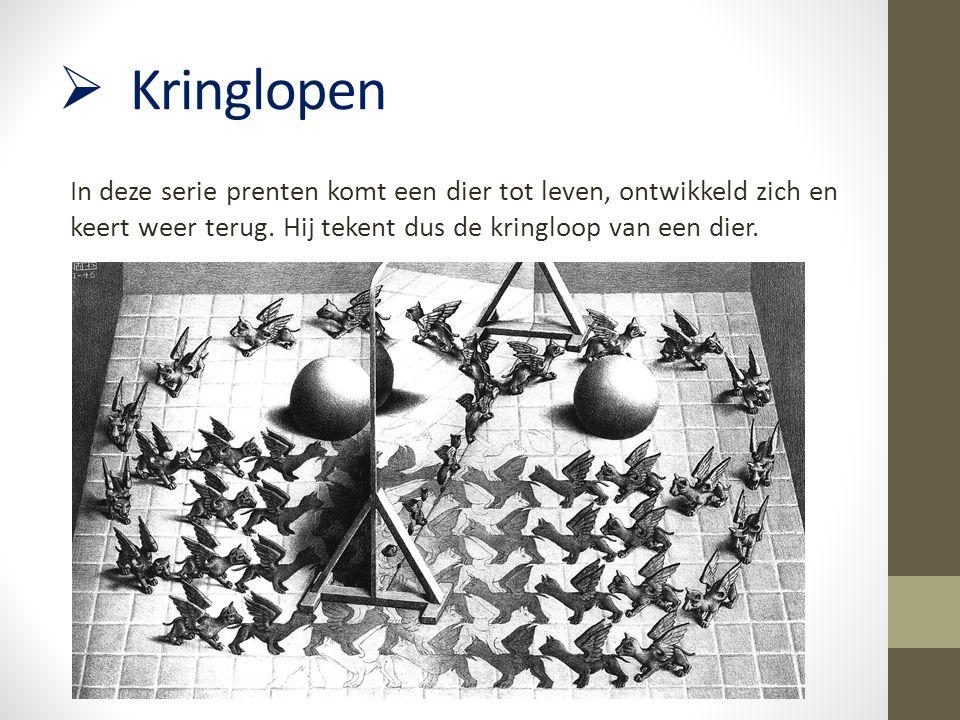 Opdracht 2- regelmatige prenten Nodig: -Escher figuren- Schaar -Wit papier- Kleurpotloden -Potlood Opdracht: Knip je gekozen Escher figuur (of figuren) uit.
