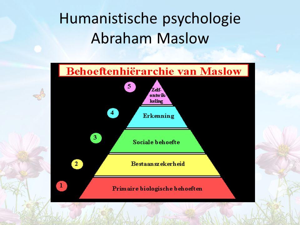 Humanistische psychologie Abraham Maslow