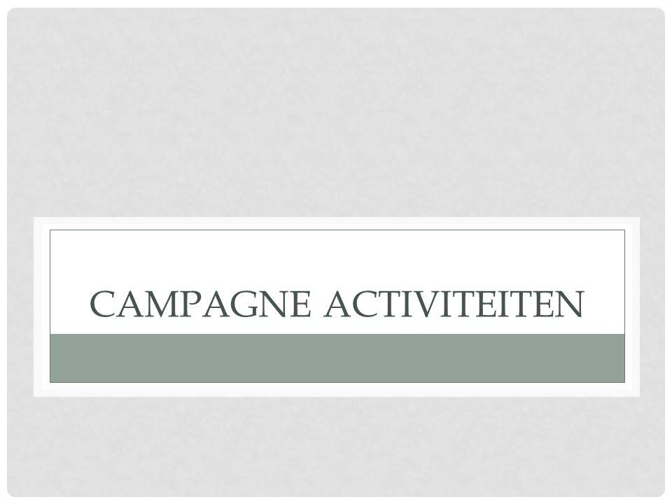 CAMPAGNE ACTIVITEITEN