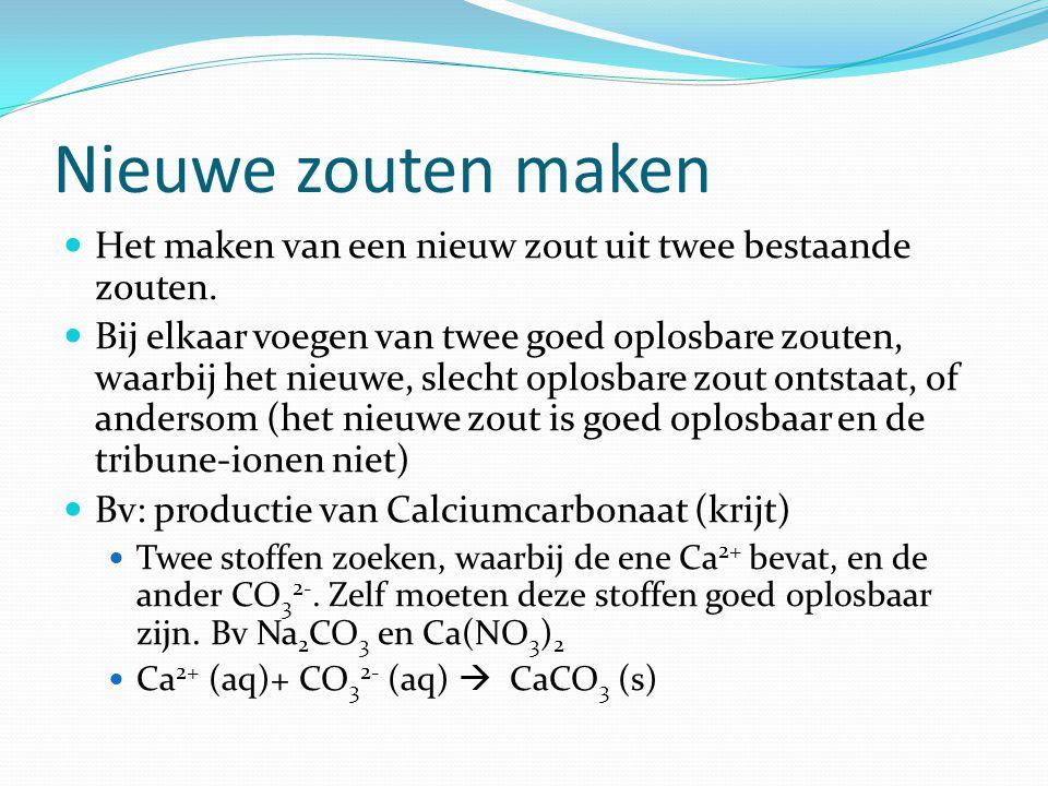 Oefenen Beschrijf een experiment om: Cu 2+ ionen uit een oplossing te verwijderen Vast kopersulfaat te maken.