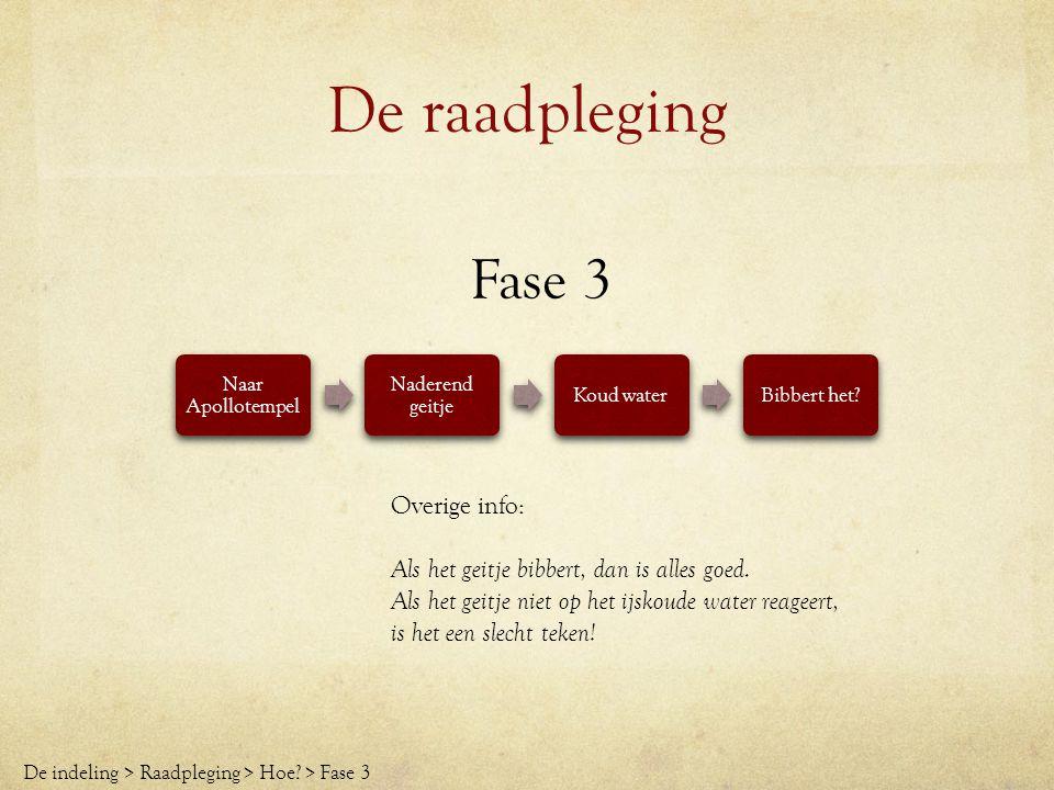 De raadpleging Fase 4 Geitje wordt geslacht Rook: orakel geopend Roesverwekkende stoffen Pythia high De indeling > Raadpleging > Hoe.