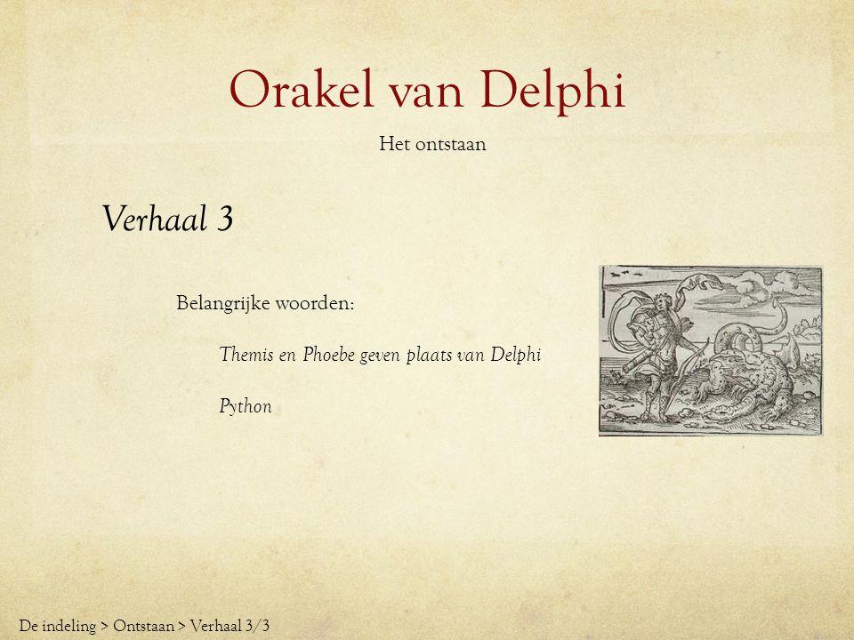 Orakel van Delphi Het ontstaan De plek van Delphi werd gezien als heilig, waardoor er een kleine tempel ontstond, geweid aan de god Apollo, die overigens de god van het licht was en alles zag wat mensen niet zagen.