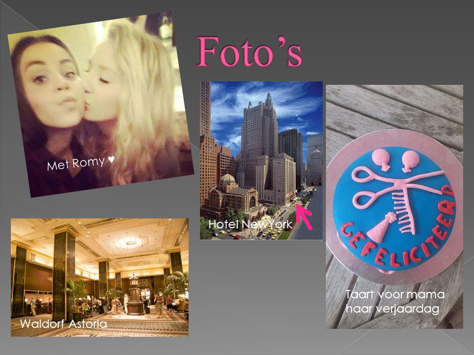 Met Romy ♥ Taart voor mama haar verjaardag Waldorf Astoria Hotel NewYork