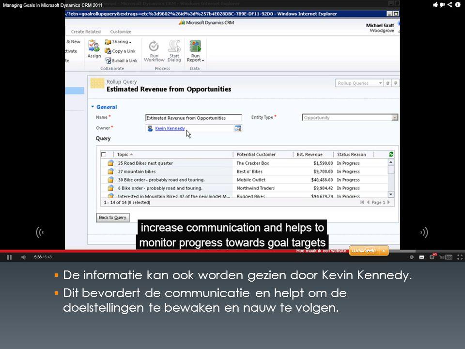  De informatie kan ook worden gezien door Kevin Kennedy.