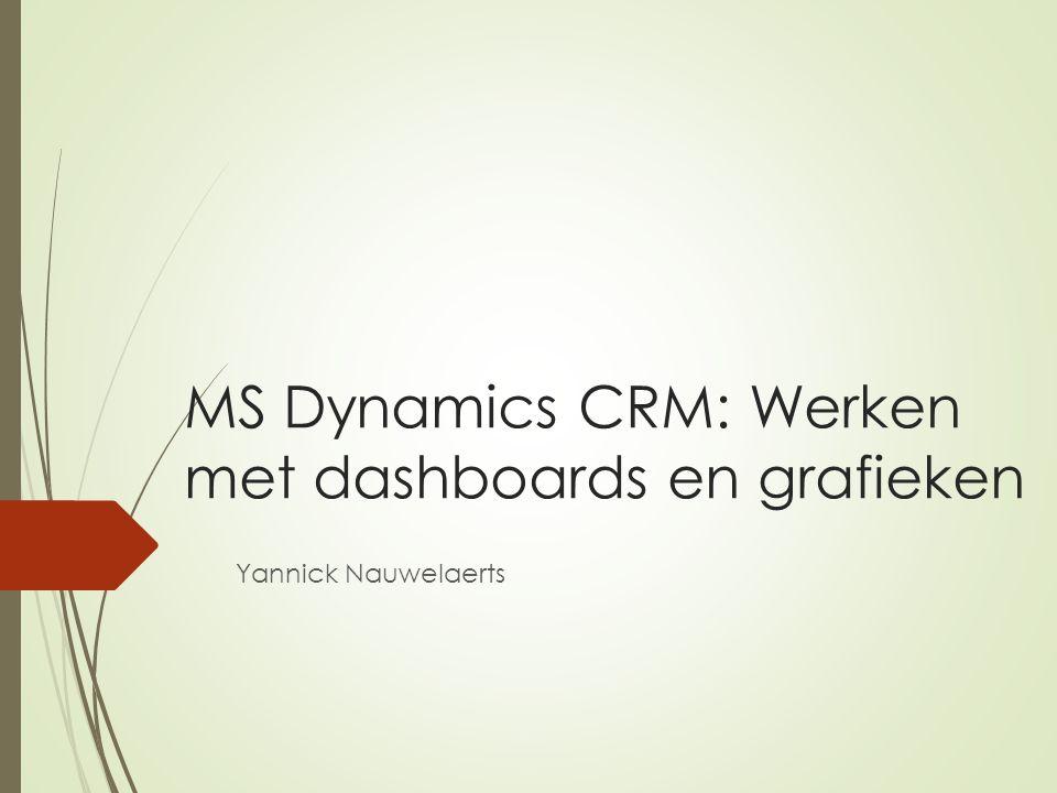 MS Dynamics CRM: Werken met dashboards en grafieken Yannick Nauwelaerts