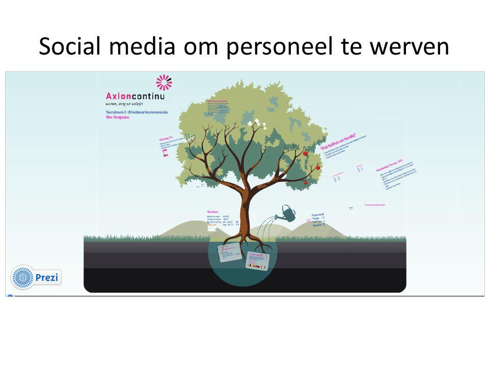 Social media om personeel te werven