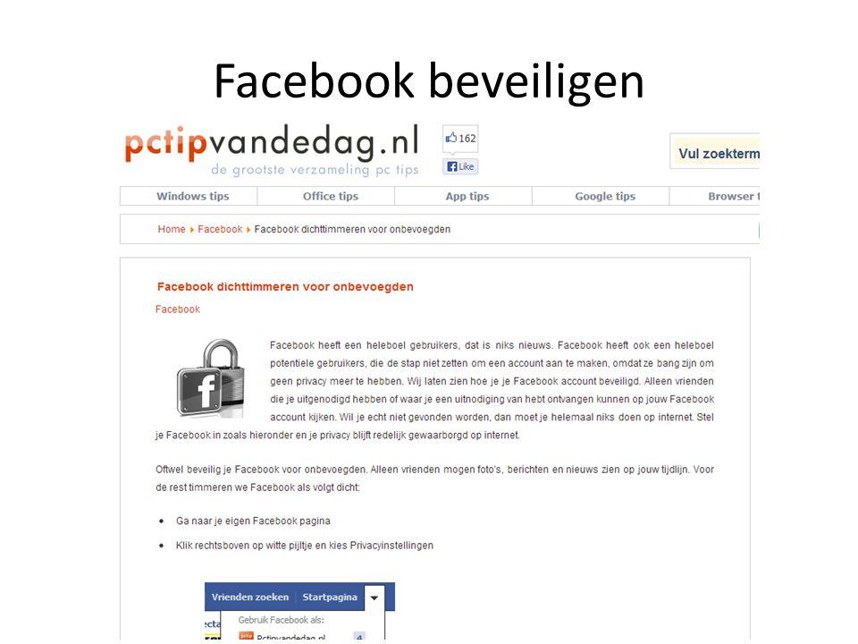 Facebook beveiligen