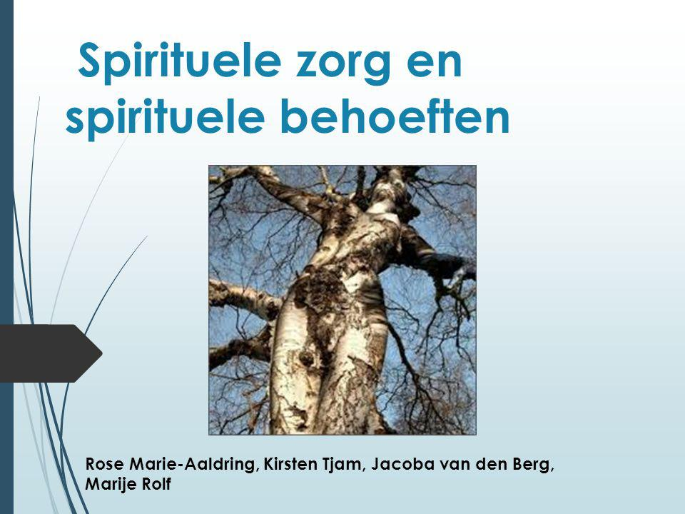 Spirituele zorg en spirituele behoeften Rose Marie-Aaldring, Kirsten Tjam, Jacoba van den Berg, Marije Rolf