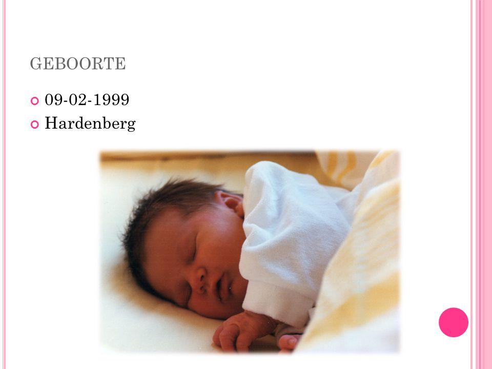 GEBOORTE 09-02-1999 Hardenberg