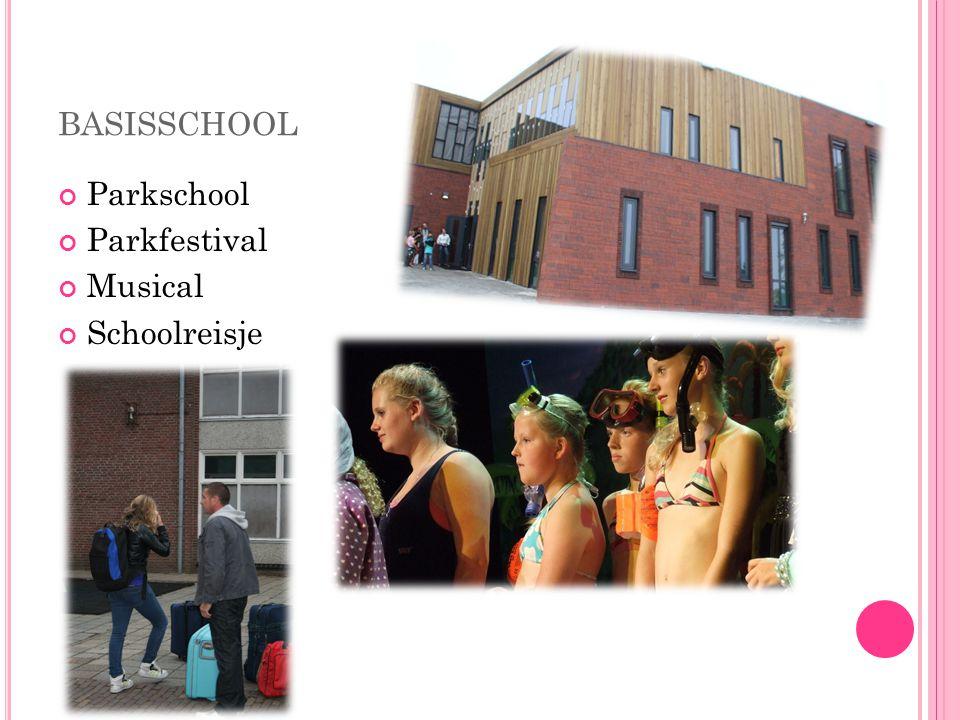 BASISSCHOOL Parkschool Parkfestival Musical Schoolreisje