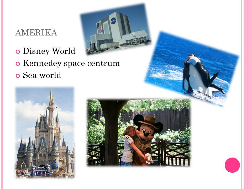 AMERIKA Disney World Kennedey space centrum Sea world