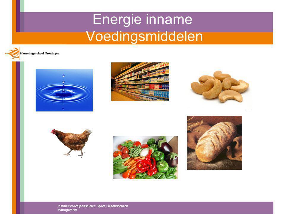 Energie inname Voedingsmiddelen Instituut voor Sportstudies: Sport, Gezondheid en Management