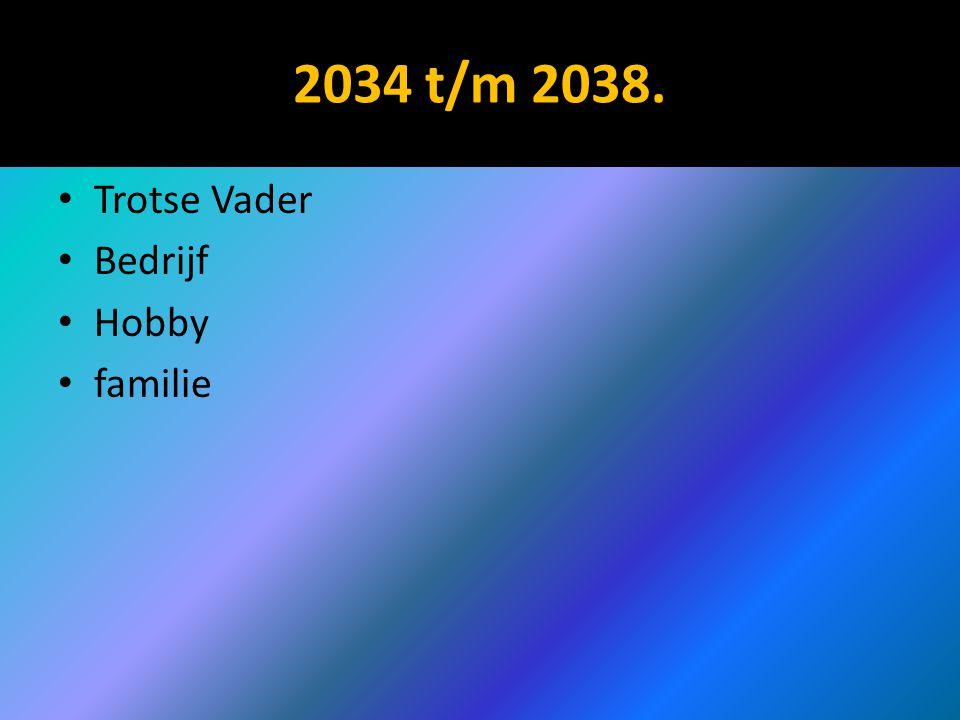 2034 t/m 2038. Trotse Vader Bedrijf Hobby familie