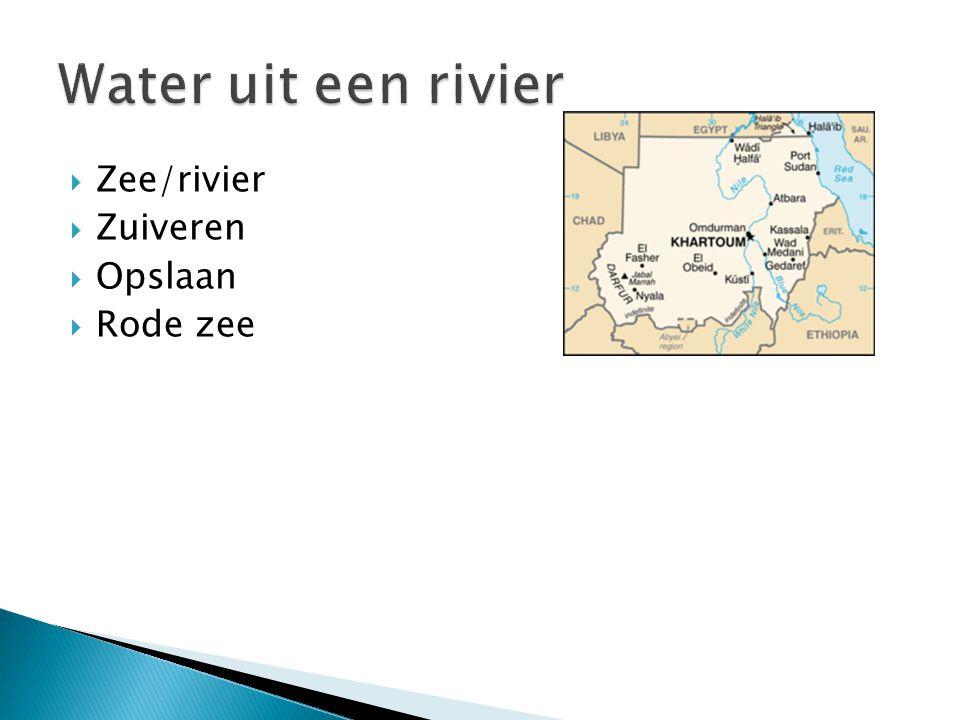  Zee/rivier  Zuiveren  Opslaan  Rode zee