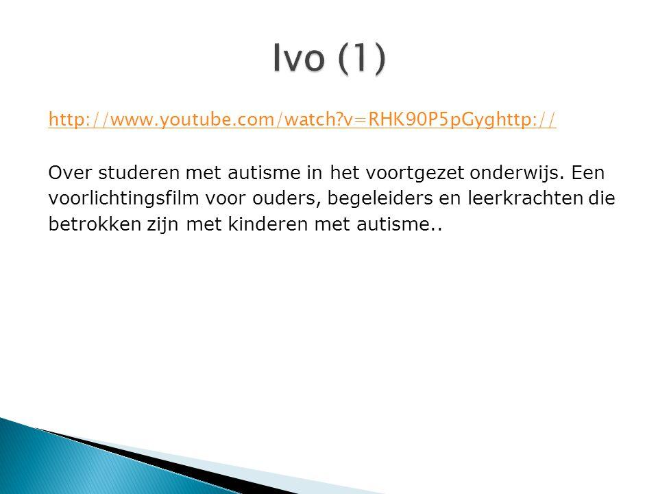 http://www.youtube.com/watch?v=RHK90P5pGyghttp:// Over studeren met autisme in het voortgezet onderwijs. Een voorlichtingsfilm voor ouders, begeleider