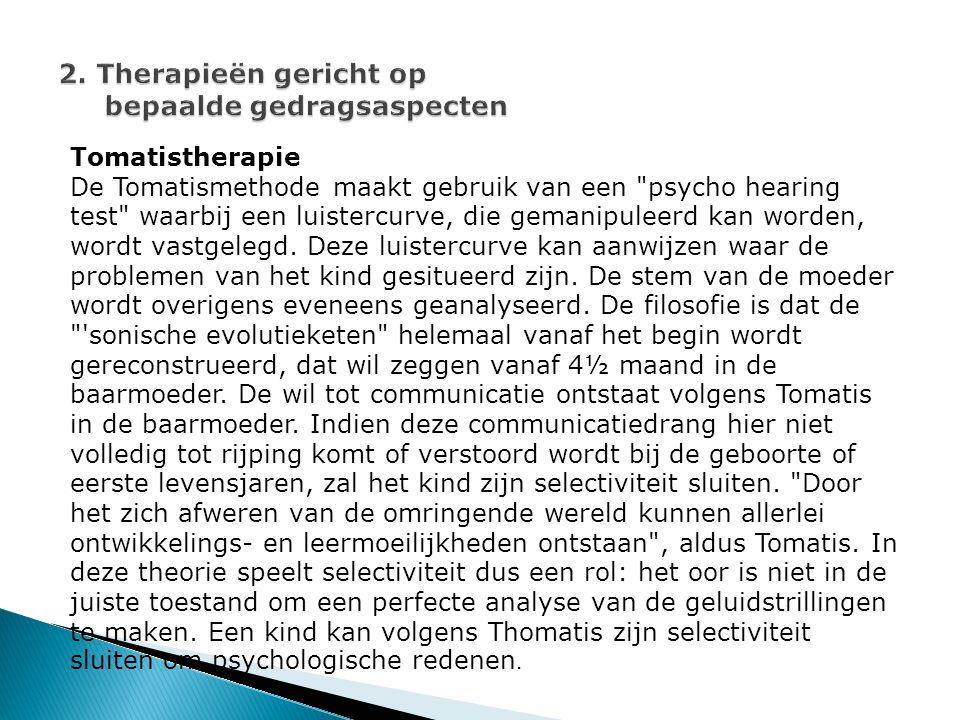 Tomatistherapie De Tomatismethode maakt gebruik van een psycho hearing test waarbij een luistercurve, die gemanipuleerd kan worden, wordt vastgelegd.