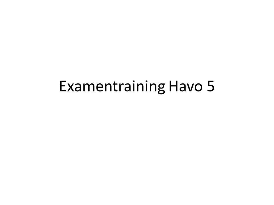 Examentraining Havo 5