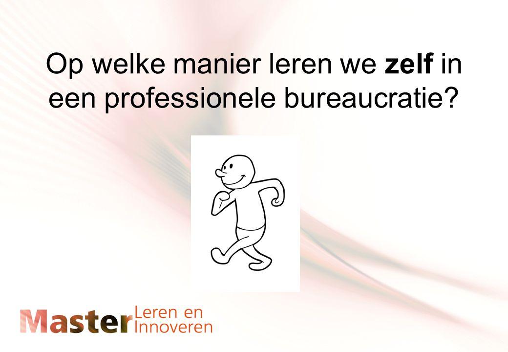Op welke manier leren we zelf in een professionele bureaucratie?