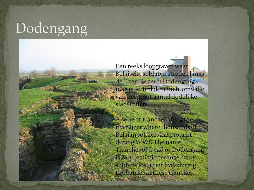 Een reeks loopgraven waar Belgische soldaten streden langs de IJzer.