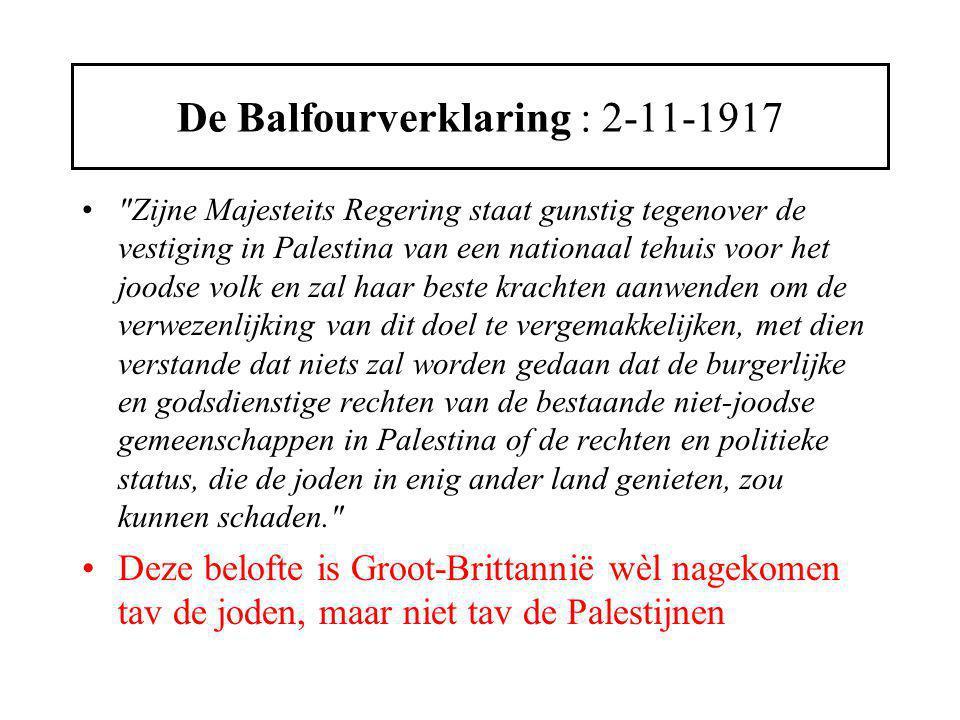 Balfourverklaring, juridisch ongeldig Drie aspecten trekken de aandacht : 1.